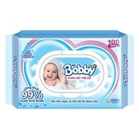 Khăn ướt em bé Bobby Không mùi gói 100 tờ