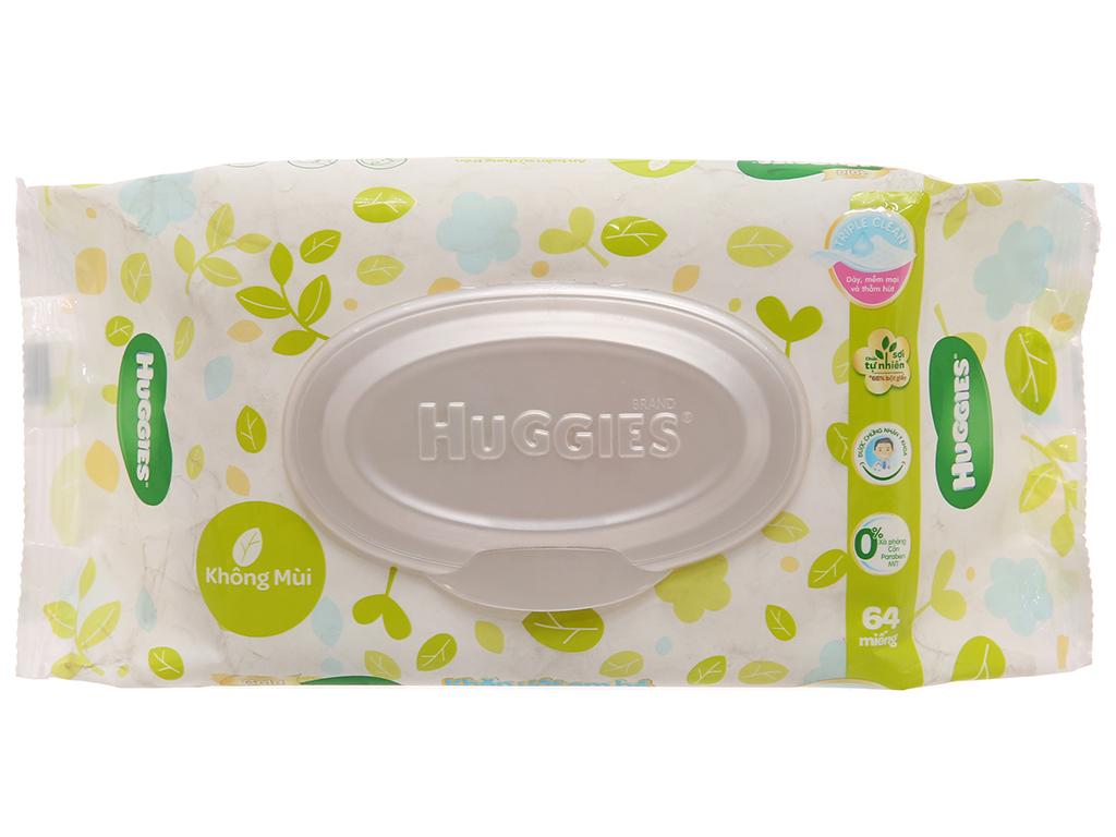 Khăn ướt em bé Huggies Gentle Care không mùi gói 64 tờ 1