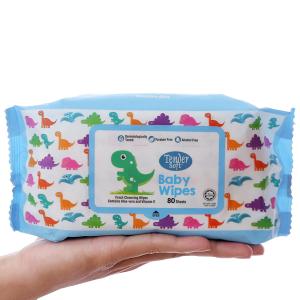 Khăn ướt em bé Tender Soft hương thơm nhẹ gói 80 miếng