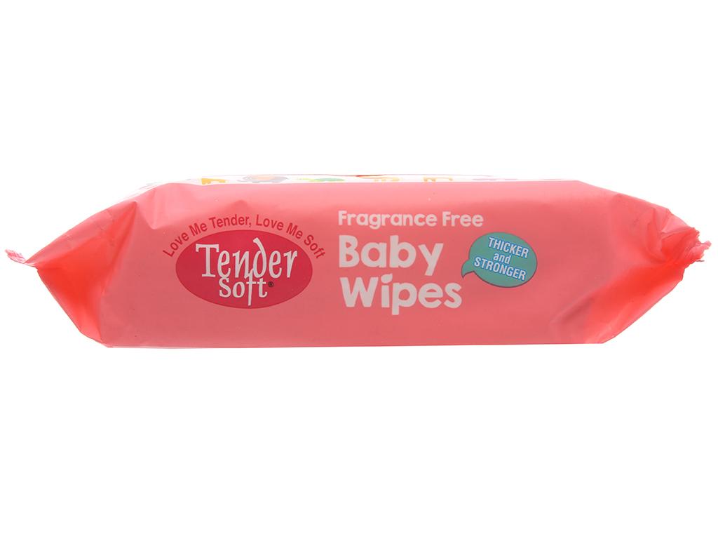 Khăn ướt em bé Tender Soft không mùi gói 80 miếng 4
