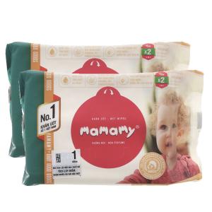 Combo 2 khăn ướt chống hăm Mamamy gói 80 tờ không mùi