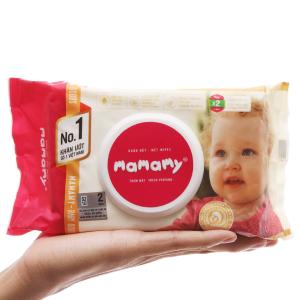 Khăn ướt em bé Mamamy thơm mát gói 100 miếng
