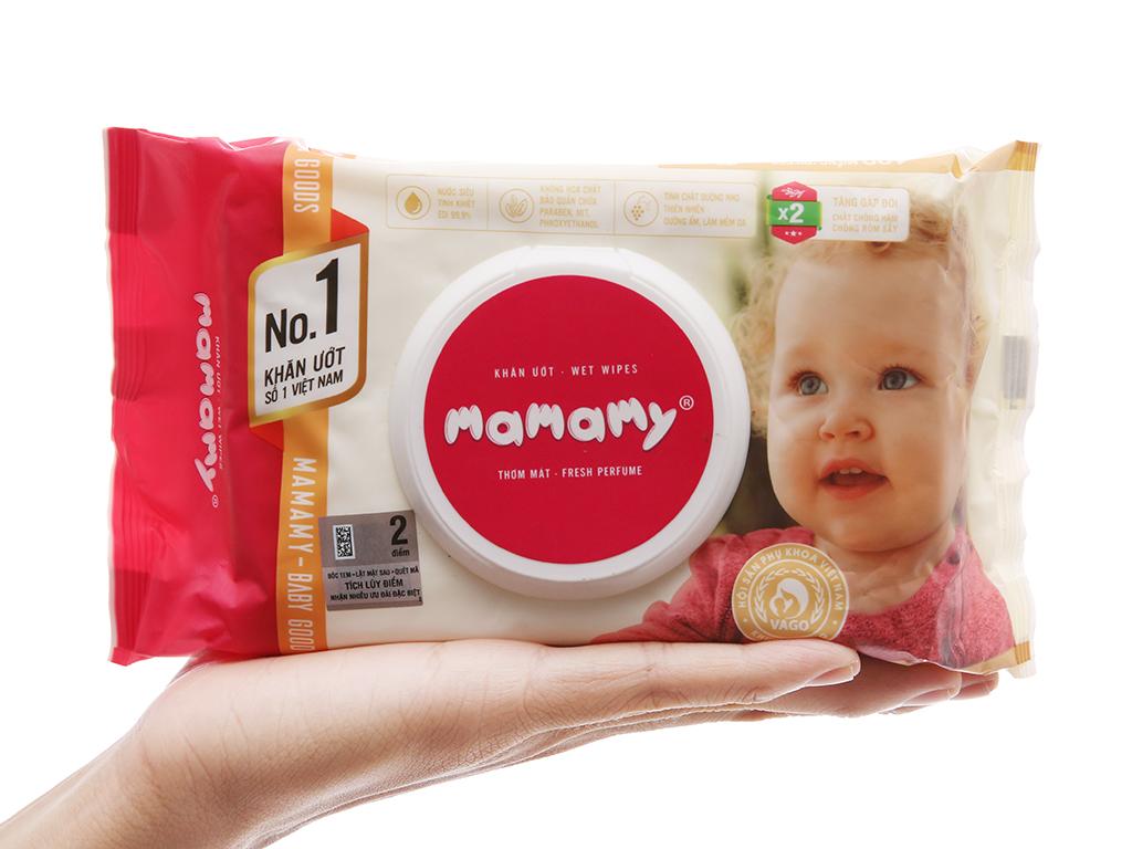 Khăn ướt em bé Mamamy thơm mát gói 100 miếng 4