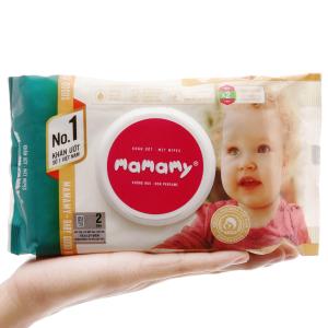 Khăn ướt em bé Mamamy không mùi gói 100 miếng
