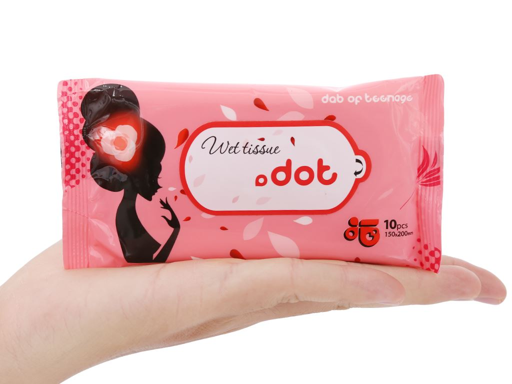 Khăn ướt Dot không mùi gói 10 miếng 5