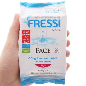 Khăn ướt chăm sóc da Fressi Care Face hương tự nhiên gói 20 miếng