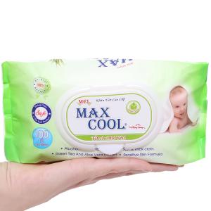 Khăn ướt em bé Max Cool không mùi gói 100 miếng