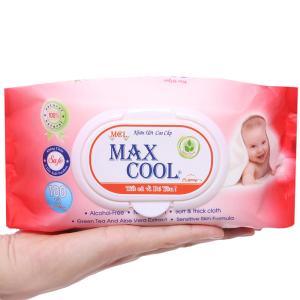 Khăn ướt em bé Max Cool hương tự nhiên gói 100 miếng