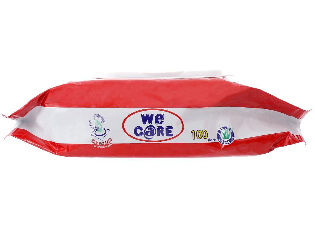 Khăn ướt We Care không mùi gói 100 miếng 3