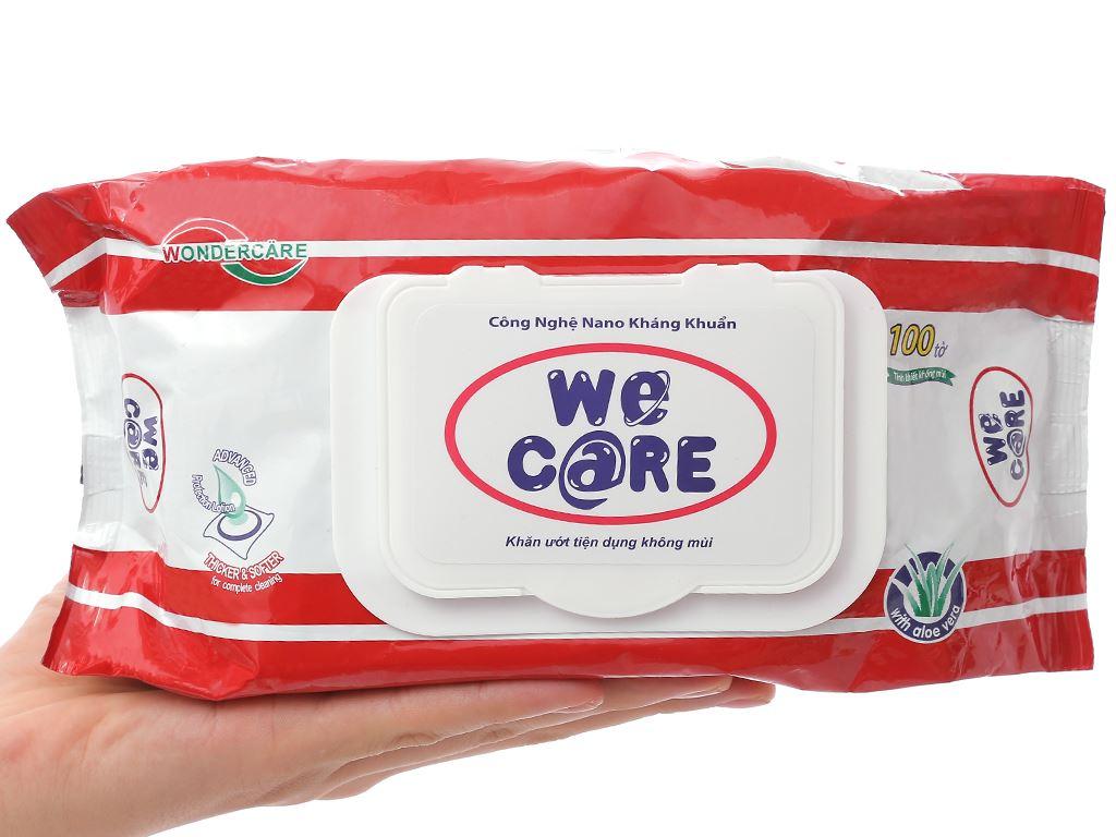 Khăn ướt We Care không mùi gói 100 miếng 4