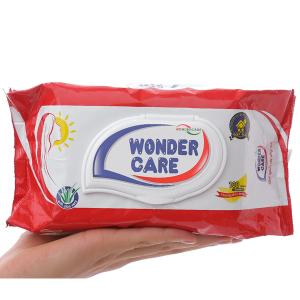 Khăn ướt Wonder Care hương phấn thơm gói 100 miếng