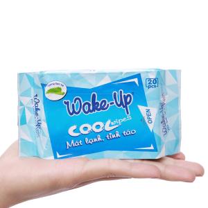 Khăn ướt Wake-Up Cool hương bạc hà gói 20 miếng