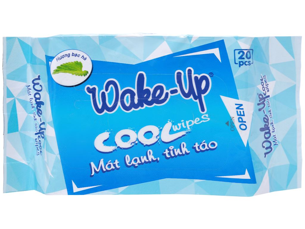 Khăn ướt Wake-Up Cool hương bạc hà gói 20 miếng 1