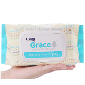 Khăn ướt cho bé Living Grace 100 miếng