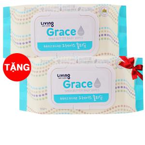 Khăn ướt em bé Living Grace hương tự nhiên gói 100 miếng