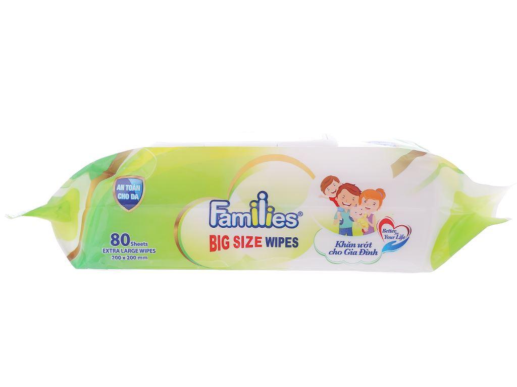 Khăn ướt Families Big Size hương tự nhiên gói 80 miếng 3