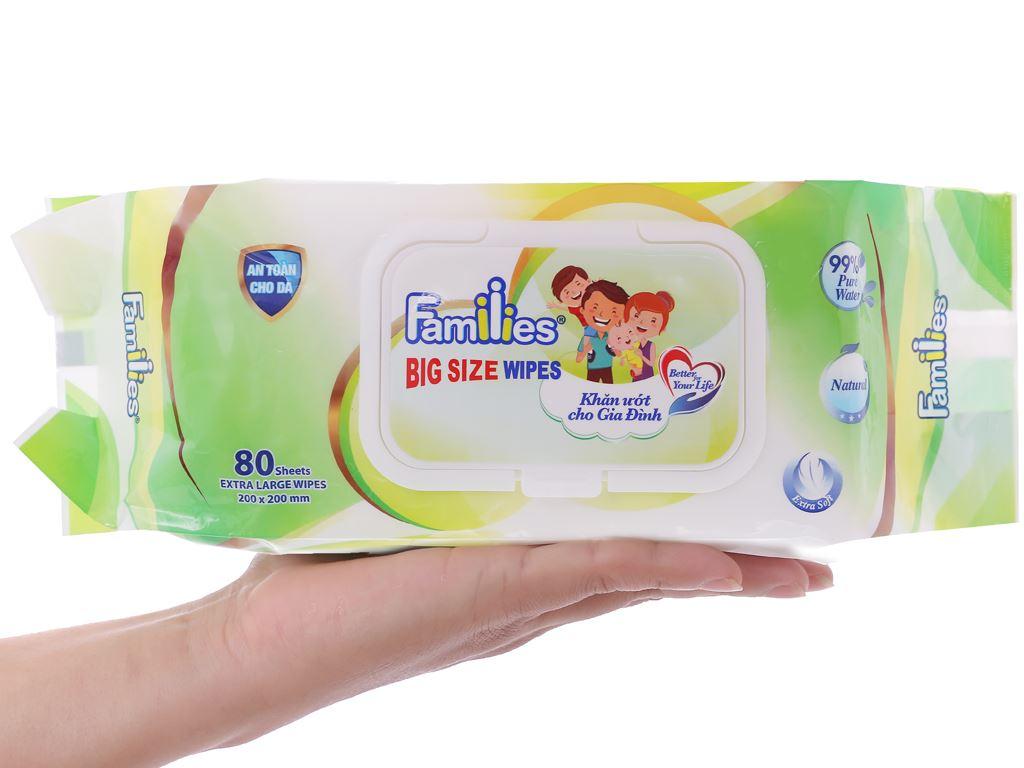 Khăn ướt Families Big Size hương tự nhiên gói 80 miếng 4