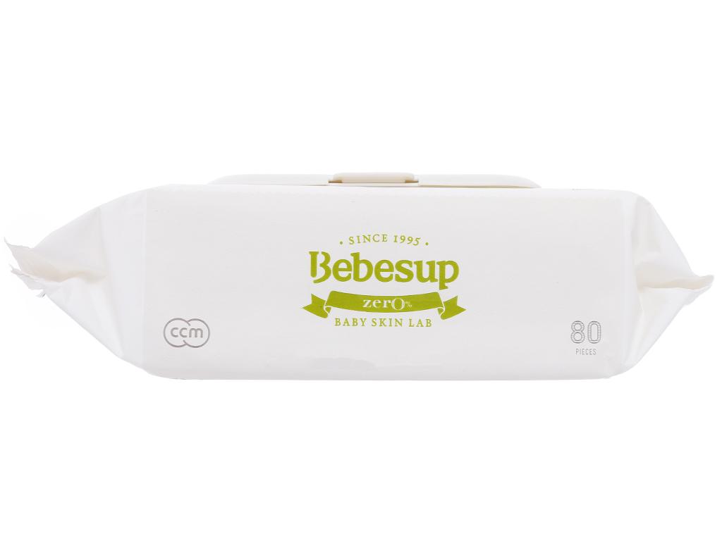 Khăn ướt em bé Bebesup Zero hương tự nhiên 80 miếng 4