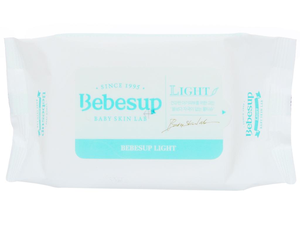 Khăn ướt em bé Bebesup Light hương tự nhiên 20 miếng 2