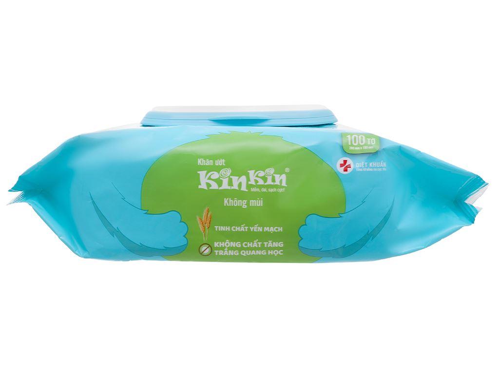 Khăn ướt KinKin không mùi gói 100 miếng 4