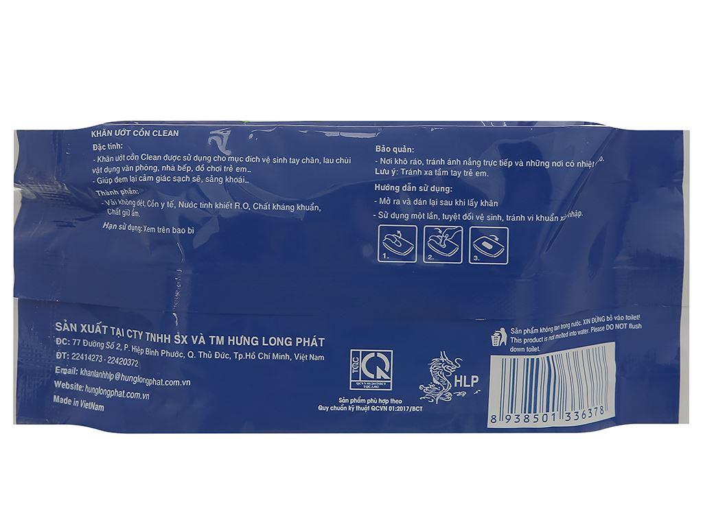 Khăn ướt cồn HLP Clean gói 20 miếng 2