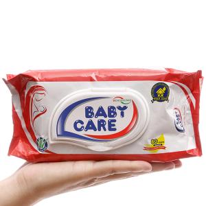 Khăn ướt em bé Baby Care hương phấn thơm gói 80 miếng