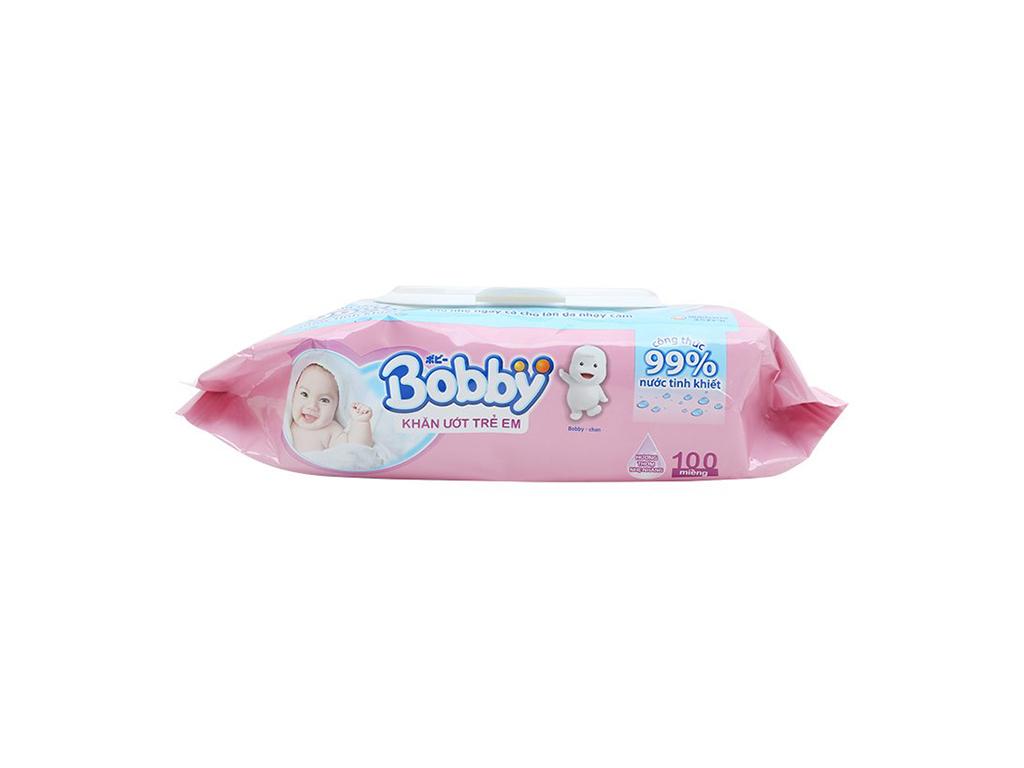 Khăn ướt em bé Bobby hương thơm nhẹ nhàng gói 100 miếng 4