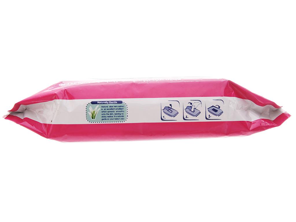 Khăn ướt Teen Care hồng hương dịu nhẹ gói 20 miếng 4
