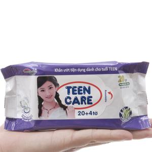 Khăn ướt Teen Care tím hương dịu nhẹ gói