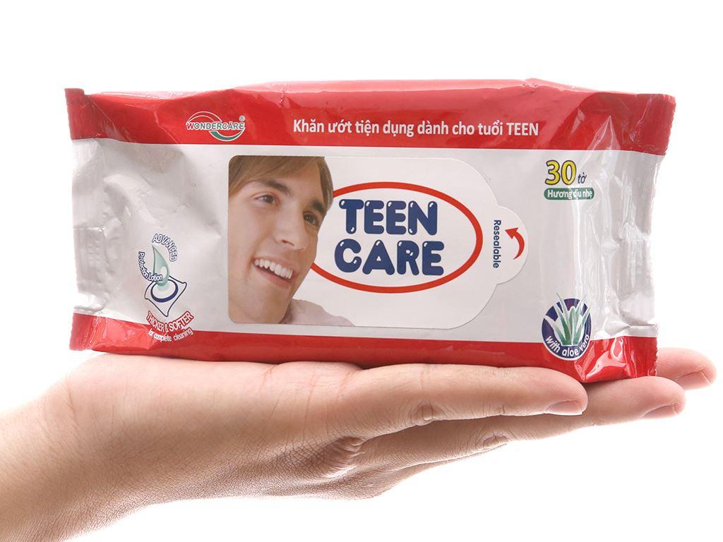 Khăn ướt Teen Care hương dịu nhẹ gói 30 tờ 4