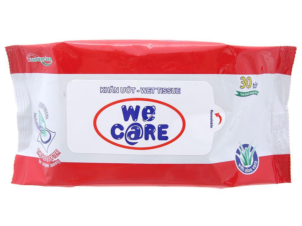 Khăn ướt We Care không mùi gói 30 tờ 1