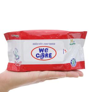Khăn ướt We Care không mùi gói 30 miếng