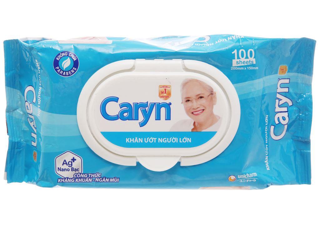 Khăn ướt người lớn Caryn nano bạc kháng khuẩn gói 100 tờ 2