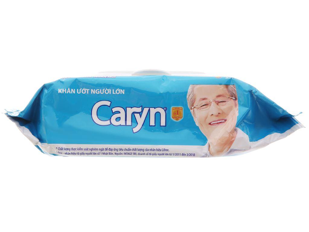 Khăn ướt người lớn Caryn nano bạc kháng khuẩn gói 100 tờ 4