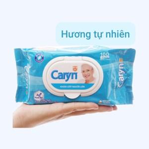 Khăn ướt người lớn Caryn kháng khuẩn ngăn mùi hương tự nhiên gói 100 miếng
