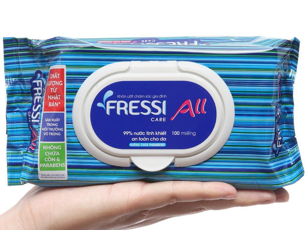 Khăn ướt Fressi Care All hương tự nhiên gói 100 miếng 5