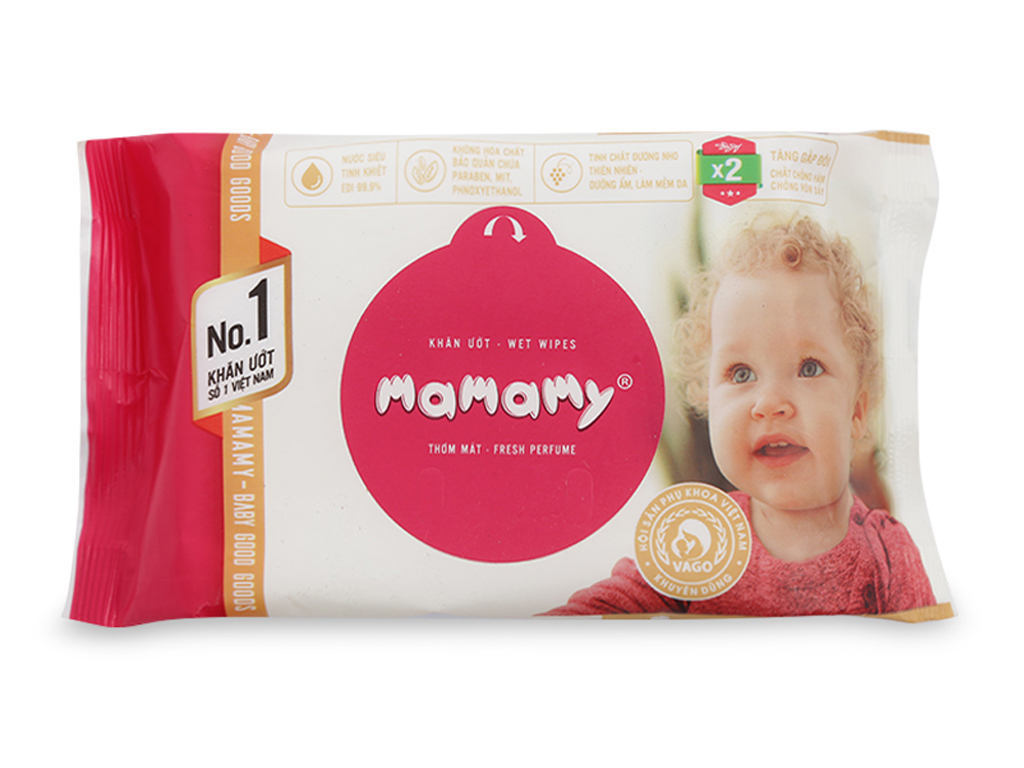 Khăn ướt chống hăm Mamamy thơm mát gói 30 tờ 1