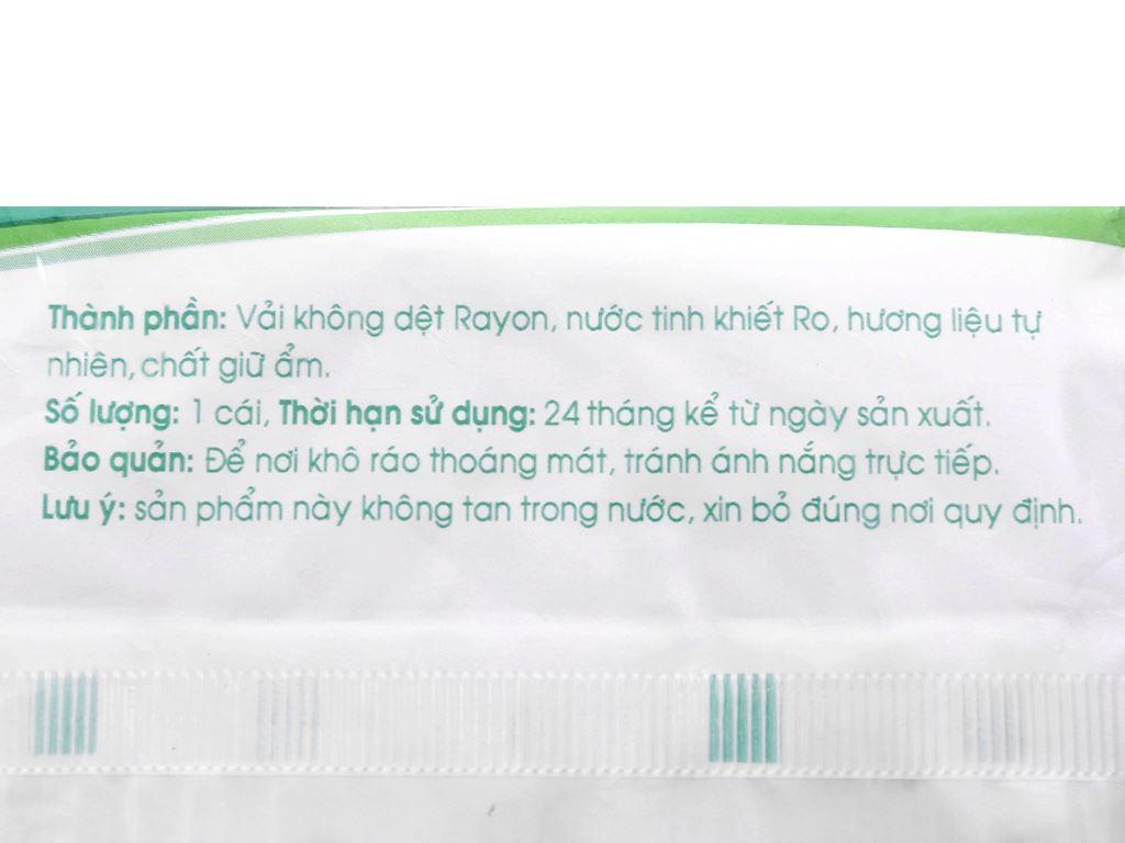 Khăn ướt Nano Medium hương tự nhiên gói 10 cái 3