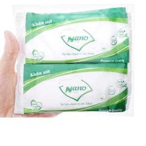 Khăn ướt Nano Medium hương tự nhiên gói 10 cái
