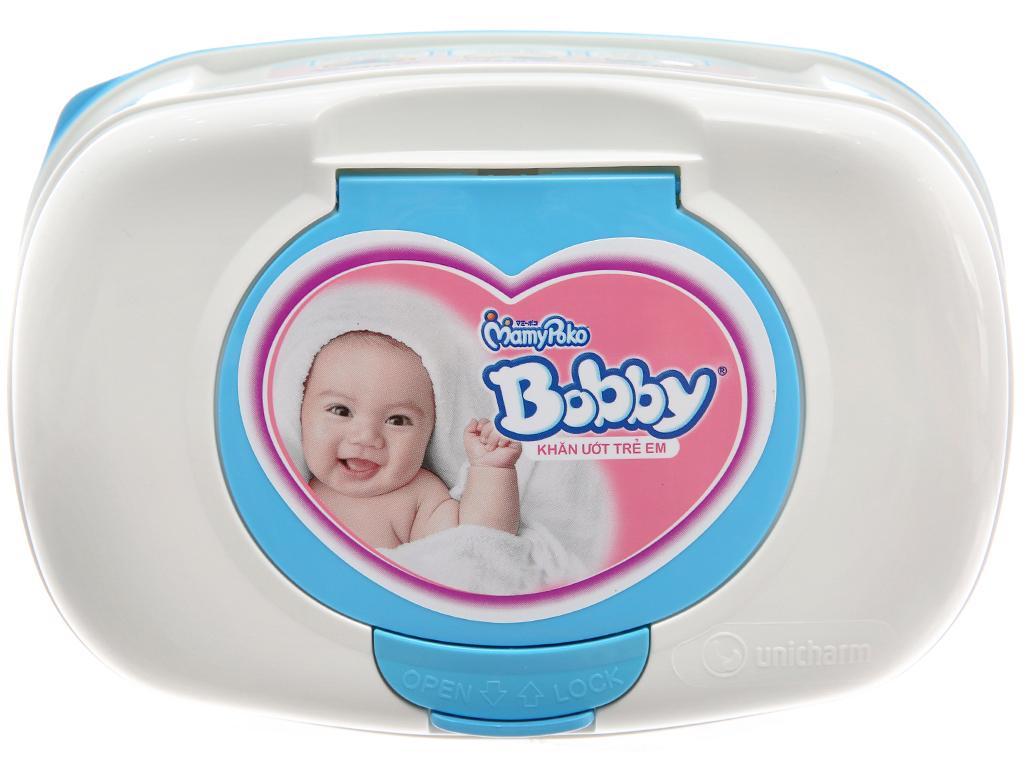 Khăn ướt em bé Bobby không mùi hộp 80 miếng 2