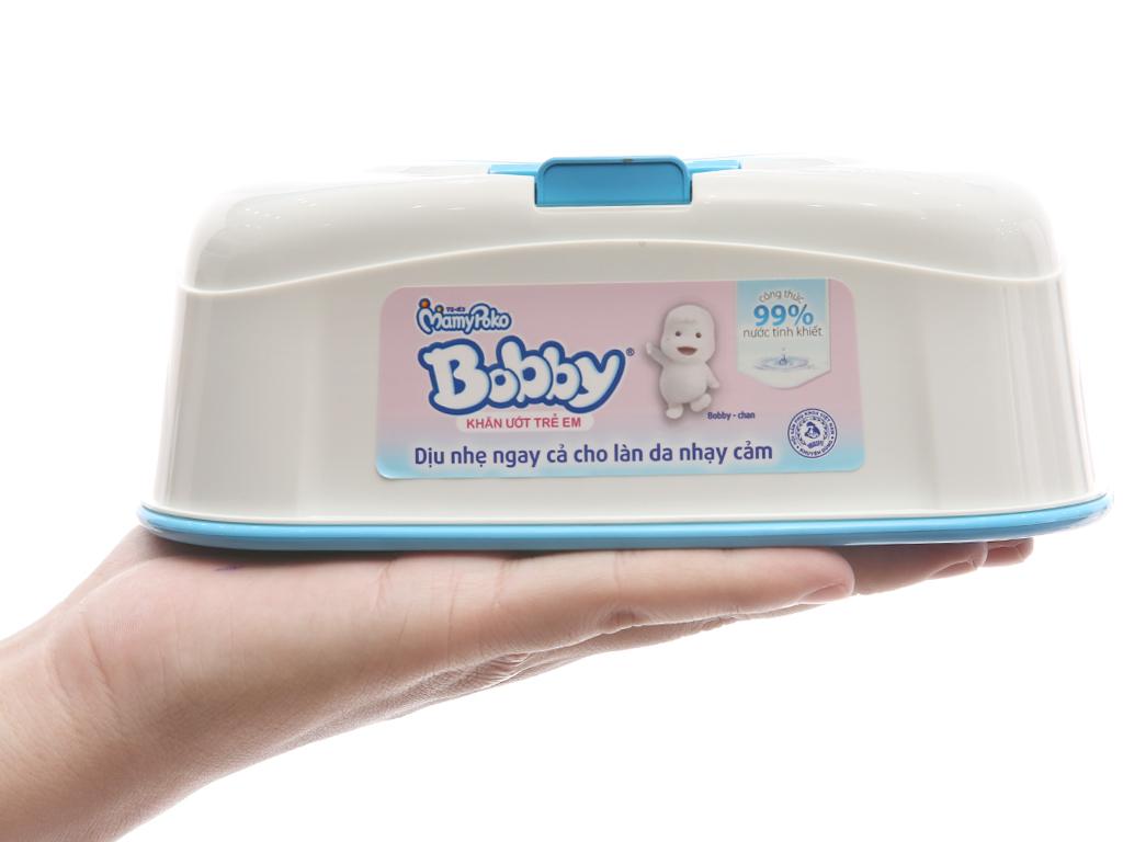 Khăn ướt em bé Bobby không mùi hộp 80 miếng 4