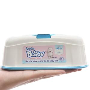 Khăn ướt em bé Bobby hương tự nhiên hộp 80 tờ