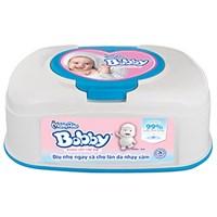 Khăn ướt em bé Bobby hộp 80 miếng