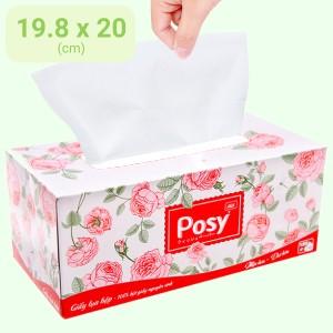 Khăn giấy lụa Posy 2 lớp hộp 180 tờ