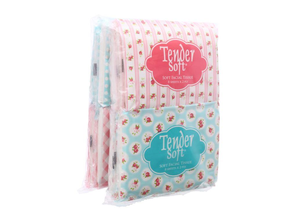 12 gói khăn giấy ăn Tender Soft 2 lớp 1