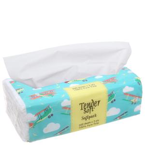 Khăn giấy Tender Soft Softpack gói 200 tờ 2 lớp