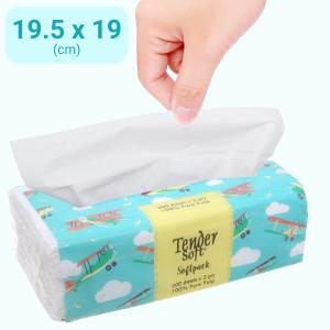 Khăn giấy Tender Soft Softpack 2 lớp gói 200 tờ