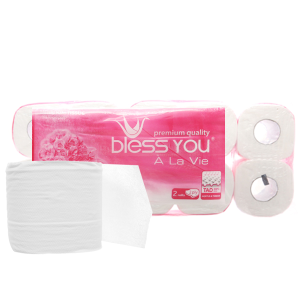 10 cuộn giấy vệ sinh Bless You À La Vie 2 lớp