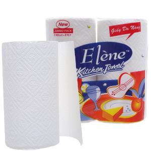 2 cuộn khăn giấy ăn đa năng Elène Kitchen Towel 2 lớp