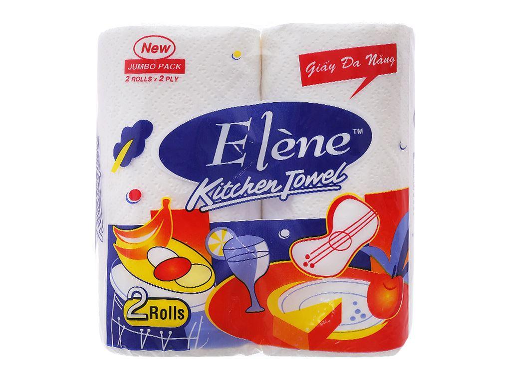2 cuộn khăn giấy ăn đa năng Elène Kitchen Towel 2 lớp 1